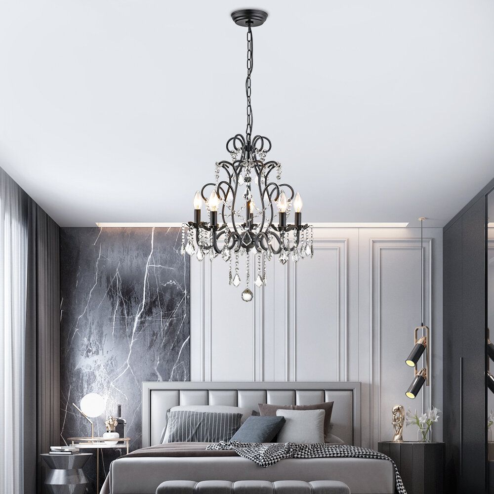 Light Candle Style Tiered Pendant