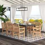 Elsmere Patio 9 Piece Teak Dining Set