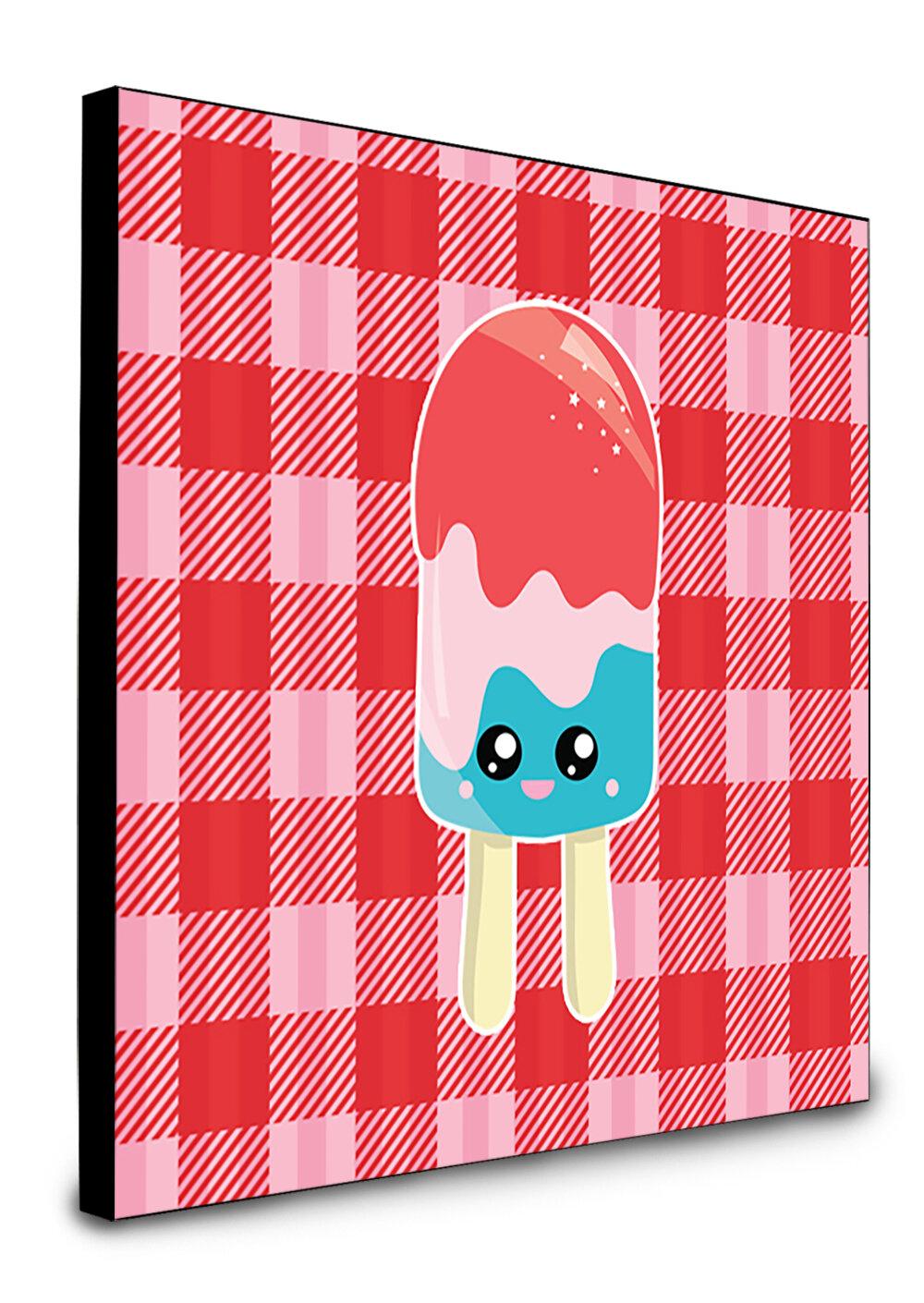 Harriet Bee Drasner Ice Pop Popcicle Face Gingham Artwork Wall Panel Wayfair