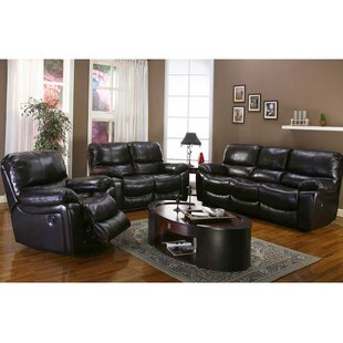 Carraton Reclining Leather Configurable Living Room Set by Three Posts