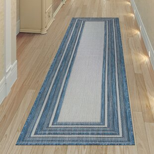 Desantiago Navy/Carmel Indoor/Outdoor Area Rug