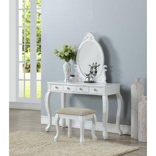 Astoria Grand Caden Vanity Set with Mirror