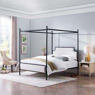 Brewster Queen Upholstered Canopy Bed by Rosdorf Park
