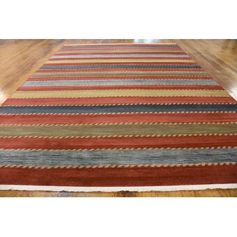 Red Barrel Studio Hewins Border Hand Tufted Wool Purple Silver Area Rug Wayfair