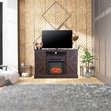 Cherita TV Stand for TVs up to 47 with Electric Fireplace Included by Gracie Oaks