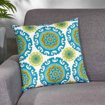 Ivy Bronx Dalila 2 Piece Embroidered Geometric Cotton Throw Pillow Cover Set Reviews Wayfair