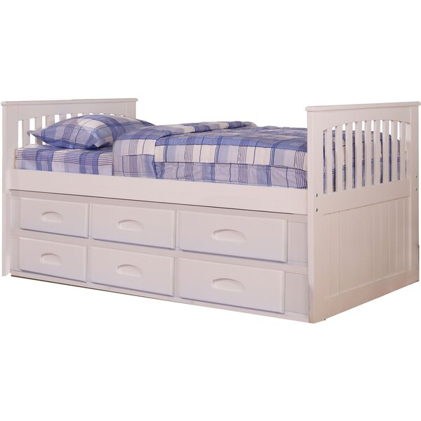 cambridge hillcrest twin size bed frame with built in storage and slide out trundle wayfair - Bed Frame Twin Size
