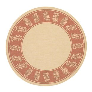 Celia Natural/Terracotta Indoor/Outdoor Area Rug by Beachcrest Home