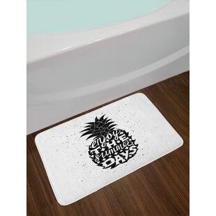 Motivational Tropical Bath Rug
