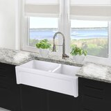 Cape 35.5 L x 17.5 W Double Basin Farmhouse Kitchen Sink