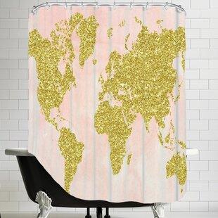 World map shower curtain wayfair ikonolexi world map shower curtain gumiabroncs Choice Image