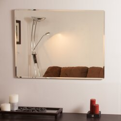 Rectangular Wall Mirror andover mills rectangle metal frameless wall mirror & reviews