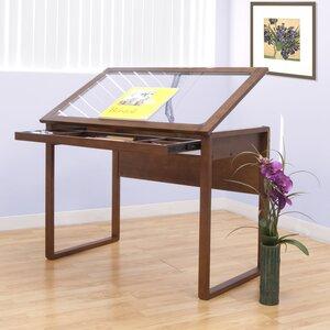 Ponderosa Glass Drafting Table