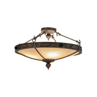 Meyda Tiffany Arabesque 4-Light Semi-Flush Mount