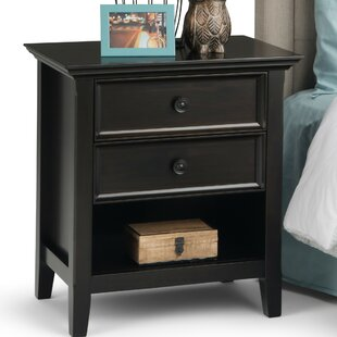 Coupon Amherst 2 Drawer Nightstand BySimpli Home