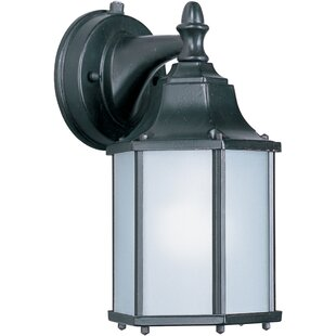 Price Check Mannox 1-Light Outdoor Wall Lantern By Three Posts