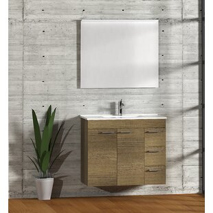 Bathroom 900mm Wall Hung Single Vanity Unit By Symple Stuff