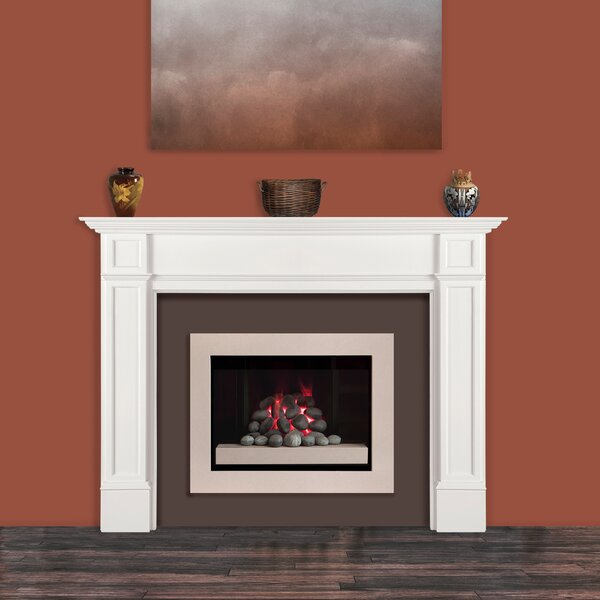 White Creative Co-Op Decorative Wood Fireplace Mantel With Distressed Finish
