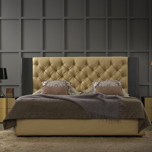 Nemesis Aurum Upholstered Panel Bed by YumanMod