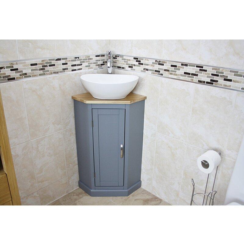 Belfry Bathroom Cousins Compact Solid Oak 390mm Free Standing Vanity Unit Reviews Wayfair Co Uk