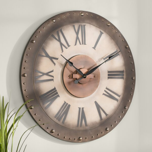 Gracie Oaks Oversized Manufahi 31 Roman Numeral Wall Clock