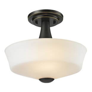Seeber 2-Light Semi Flush Moun..