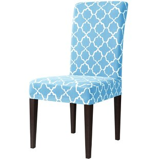Printed Elastic Box Cushion Dining Chair Slipcover (Set Of 4) By Brambly Cottage