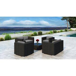 Everly Quinn Glendale 5 Piece Sofa Set with Sunbrella Cushion