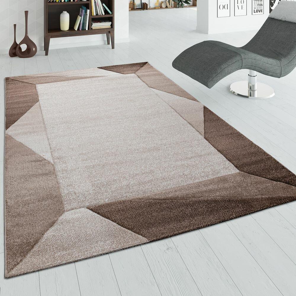 Flachgewebe Teppich Haro in Braun