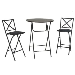 Vargas 3 Piece Counter Height Bistro Set by Wins..