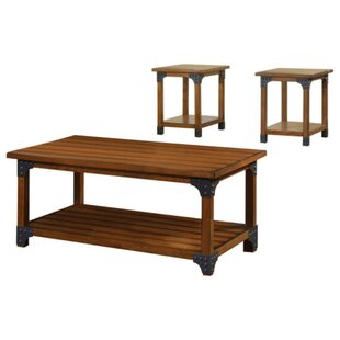 Loon Peak Windle Country 3 Piece Coffee Table Set