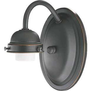 Best Reviews Toph 1-Light Armed Sconce By Beachcrest Home