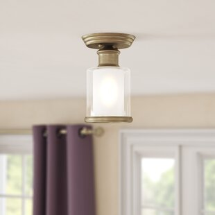 Lisle 1-Light Semi Flush Mount by Red Barrel Studio