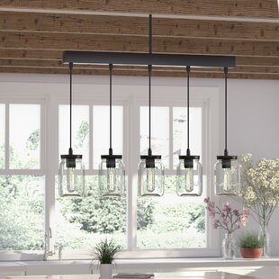 August Grove Vickie 5-Light Kitchen Island Pendant