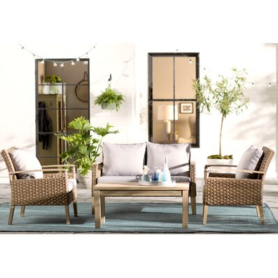Lounge Amp Deep Seating Wood Patio Conversation Sets You Ll