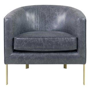 Sensational Castiel Bonded Leather Barrel Chair Machost Co Dining Chair Design Ideas Machostcouk