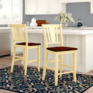 Leo Minor 22.75 Bar Stool (Set of 2) Latitude Run