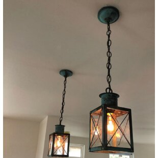200 Series 1-Light Outdoor Hanging Lantern by Brass Traditions