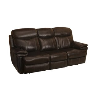 Goeltz Leather Power Reclining Sofa by Red Barrel Studio