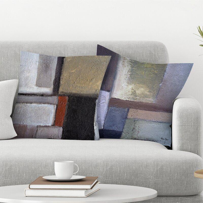 East Urban Home Hans Paus 2 Piece Concrescence Throw Pillow Insert Set Wayfair
