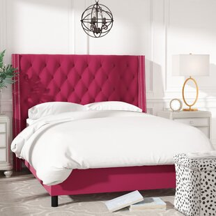 Aurelien Tufted Cotton Upholstered Panel Bed