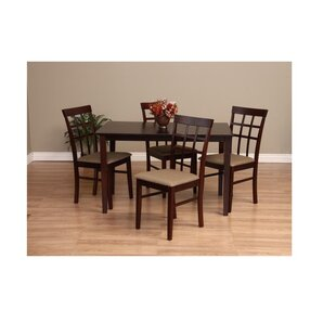 Justin 5 Piece Solid Wood Dining Set