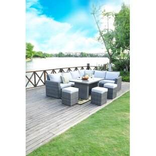 Outten 8 Piece Sectional Seating Group with Cushions