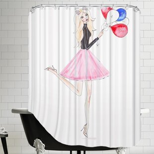 Alison B Paris Balloons Single Shower Curtain