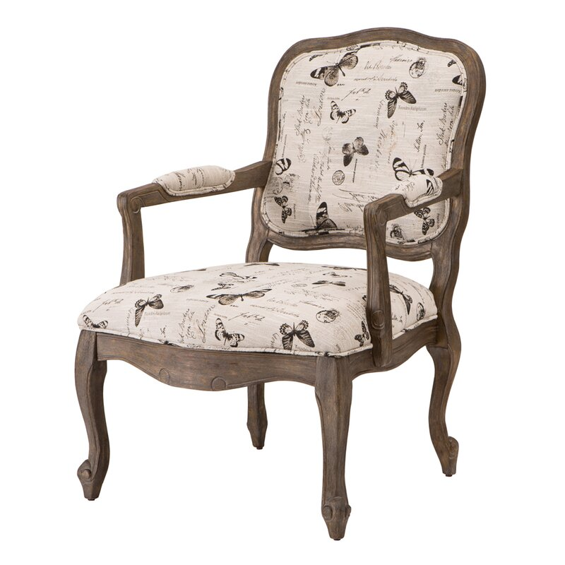 Superior Monroe Camel Back Wood Armchair