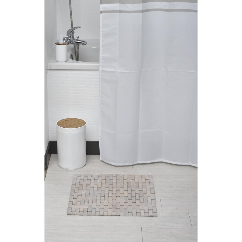 Bamboo Slats Roll Up Foldable Bath Rug