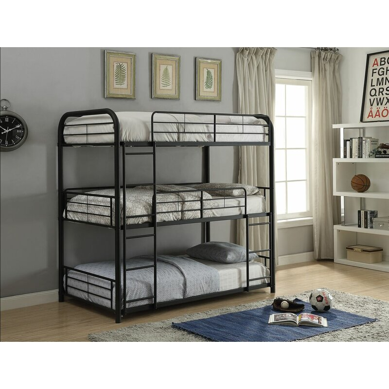 Harriet Bee Eddy Triple Bunk Bed Wayfair