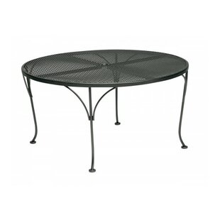 Woodard Mesh Top Round Chat Dining Table