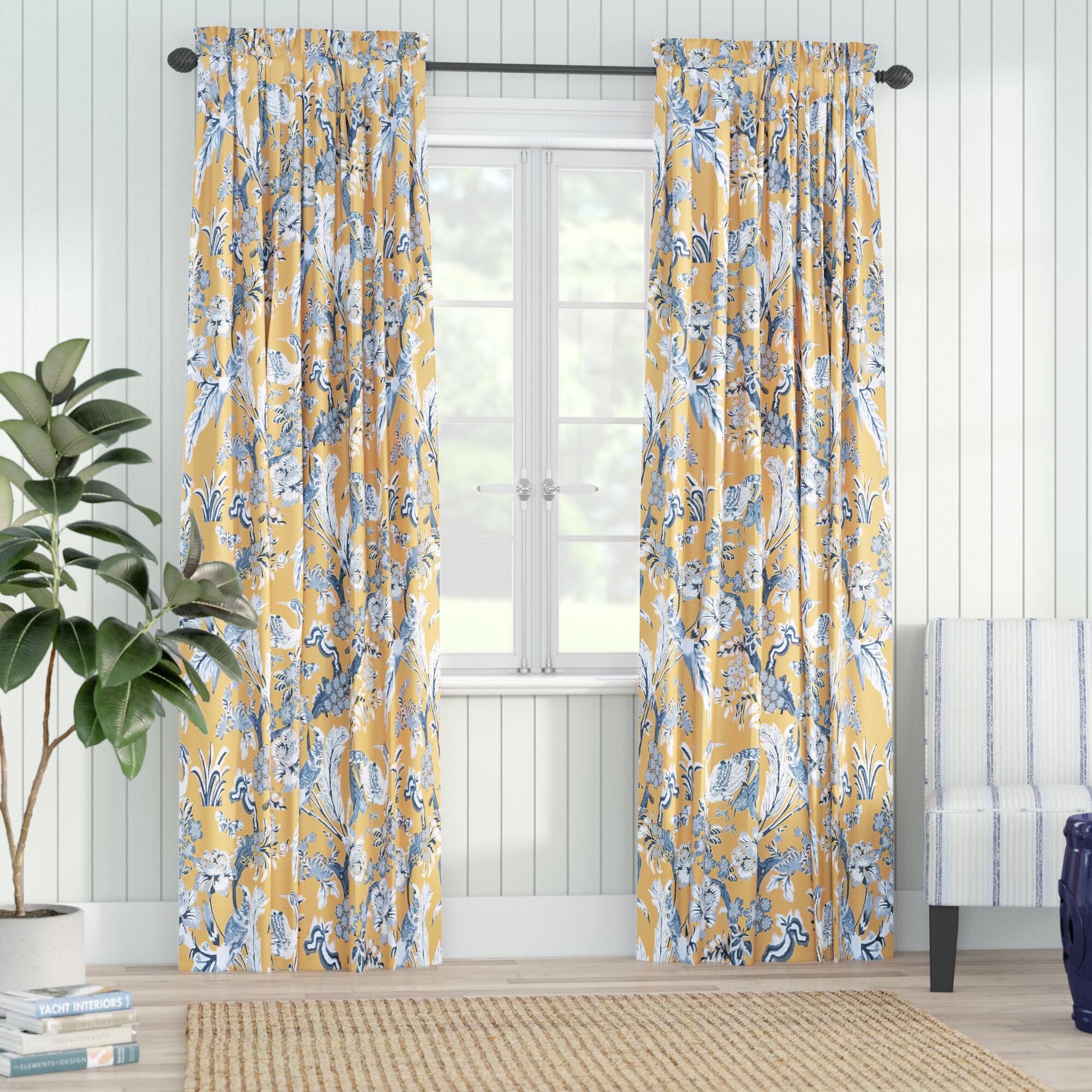 Bay Isle Home Panagia Floral Room Darkening Thermal Rod Pocket Curtain Panels Reviews Wayfair