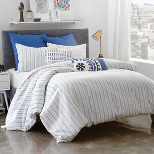 Amalfi Stripe Cotton Reversible Duvet Cover Set
